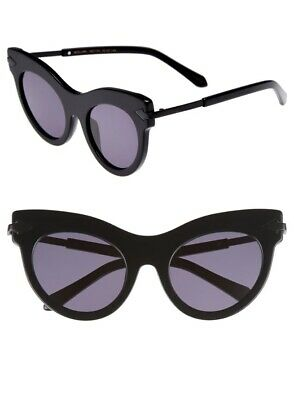 Karen Walker Miss Lark   Black Cat Eye Acetate / Metal Frames   Classic $380 RRP