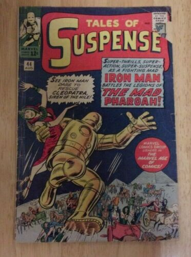 TALES OF SUSPENSE 44 1963 SOLID GD 6TH APPEARANCE OF IRON MAN+2 ATLAS SHORTS