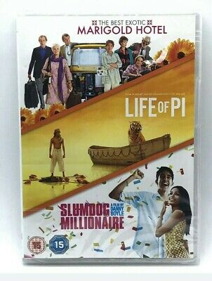 The Best Exotic Marigold Hotel - Life Of Pi - Slumdog Millionaire - 3 DVD
