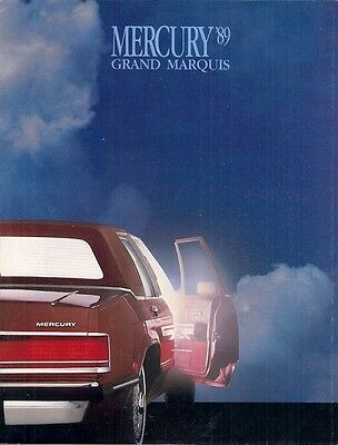 Mercury Grand Marquis 1989 USA Market Sales Brochure GS LS Sedan Wagon