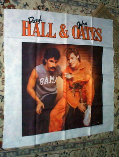 HALL & OATES Vintage Silk Screened Giant Tapestry Banner Last One
