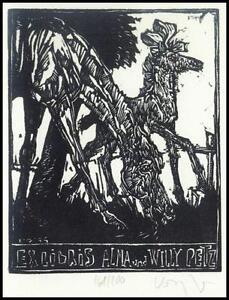 Robert Konig X2 Exlibris 1986 Bookplate Horse Pferd Animals Pets Alma Petz s26 - <span itemprop='availableAtOrFrom'> Dabrowa, Polska</span> - Robert Konig X2 Exlibris 1986 Bookplate Horse Pferd Animals Pets Alma Petz s26 -  Dabrowa, Polska