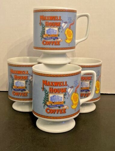 Maxwell House Coffee Cups set of 4 Free Shipping