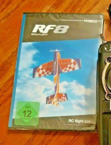 REALFLIGHT RF8 RF 8 REAL FLIGHT SIMULATOR WITH USED INTERLINK CONTROLLER
