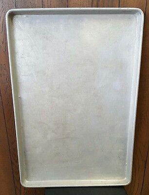 "Baking Sheet Pans 18"" x 26"" Full Size Aluminum Bun Pan Wire in Rim"