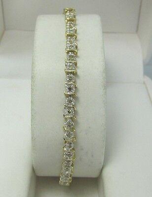 "Estate 10K WG 7.5"" 1.0 CTW Diamond  Tennis Bracelet 5.5 Grams 4 MM Wide"
