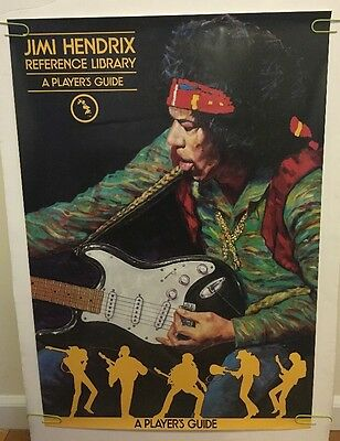 vintage poster Jimi Hendrix Reference Library A Players Guide Illustration 1984