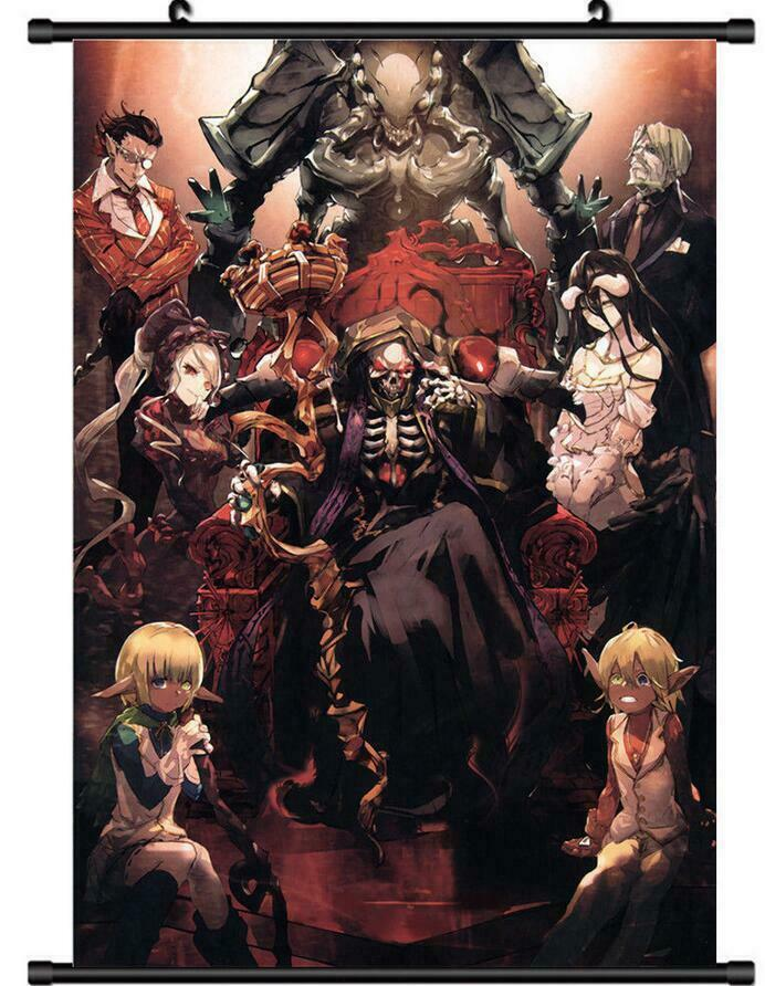 Anime poster Overlord Home Decor Wall Scroll Painting 40*60CM Gift 40* 60CM