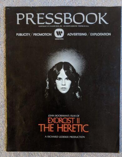 The Exorcist II Heretic Pressbook 1977 Linda Blair Horror Movie Memorabilia Rare