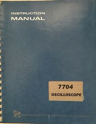 Tektronix 7704 Oscilloscope Instruction Manual Pn 070-0981-00 Wschematics