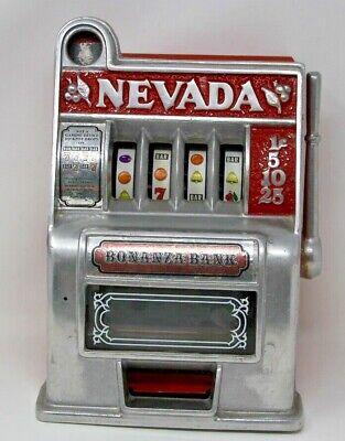 Vintage Bonanza Slot Machine Bank Las Vegas Nevada One Arm Bandit