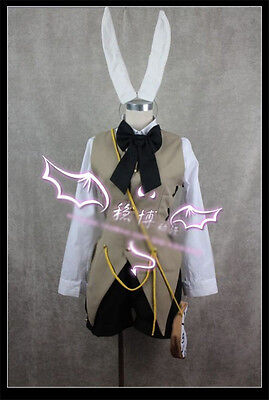 Hot Vocaloid LEN Alice in musicland Cosplay Bunny  Costume Free Shipping - Alice Bunny Costume