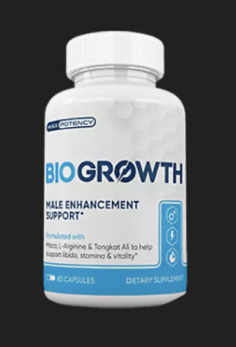 NEW BIOGROWTH- 60caps -Testosterone Booster and Sexual Stamina Ships Free!