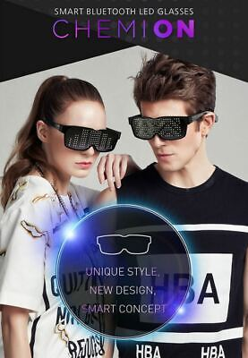 FUNIOT CHEMION 2 Smart Bluetooth LED Sunglasses light on Club Party