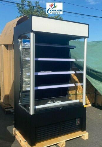 """NEW 46"""" Open Air Refrigerator Cooler Sandwich Dessert Drink Display NSF"""