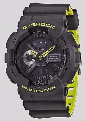 Crazy Weekend Deal New G-Shock GA110LN-8A Gray/Neon Green Layered Mens Watch