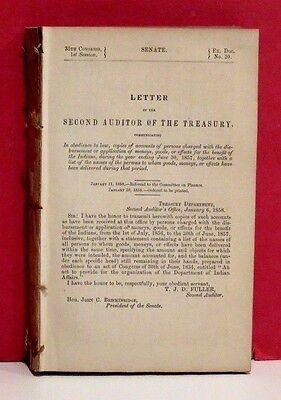 Senate Report - Disbursements for the Benefit of the Indians - 1857