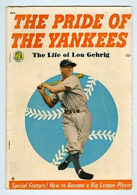 Pride of the Yankees #1 VG 1949 The Life of Lou Gehrig