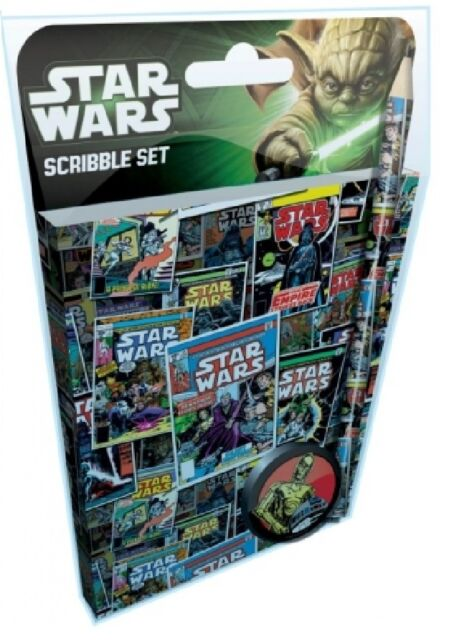 STAR WARS SCRIBBLE SET : STATIONARY SET : WH5 : 439 : BRAND NEW