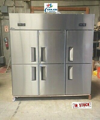 New 75 Upright Commercial Refrigerator Model Al46 6 Door With Warranty