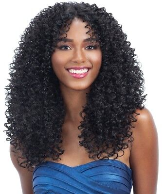 HARMONY 117 - MILKYWAY HUMAN HAIR BLEND LACE FRONT WIG TIGHT JERRY CURL