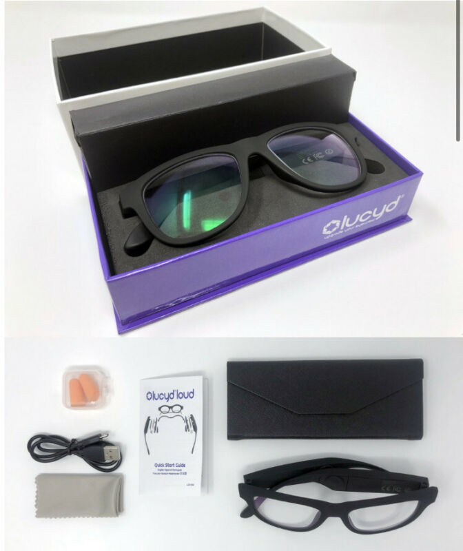 LUCYD BLACK MATTE SMART SUNGLASSES W/ BLUETOOTH AUDIO DEVICE MODEL LCD002