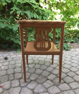 Musicians side table wooden