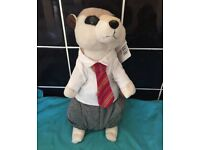 Meerkat school uniform boy teddy brand new tags 32cm tall