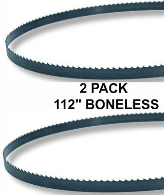 112x58x3tpi - 2 Pack Boneless Bandsaw Blades - Meat Cutting Fits Hobart 5014