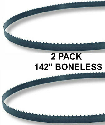 142x58x3tpi - 2 Pack Boneless Bandsaw Blades Meat Cutting Fits Hobart 6801 New