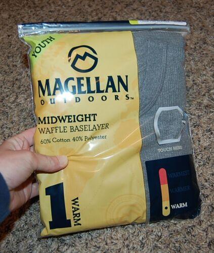NEW NIP Magellan boys dark gray 2pc thermal long sleeve base layers SET S M L XL