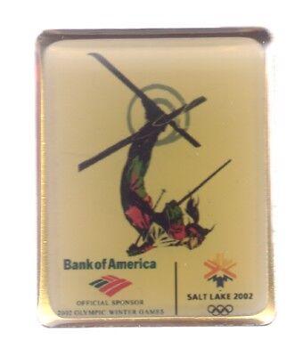 2002 Bank Of America Salt Lake City Olympic Pin Freestyle Skiing