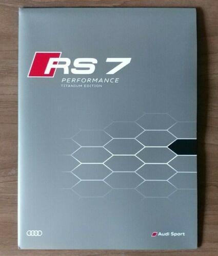 2017 AUDI RS 7 Performance TITANIUM Edition Sales Brochure Folder US 17 Sport