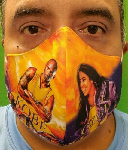 Kobe Bryant And Gigi Mouth & Nose Cover Face-Mask Double Layer Protection