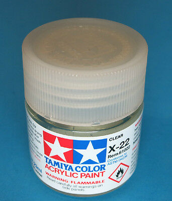 Tamiya GLOSS  Acrylic Hobby Model Paint Acrylic X22 Clear 23ml 81022 X-22