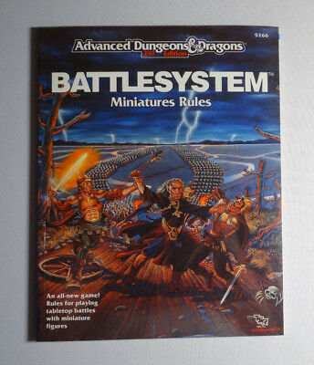 BATTLESYSTEM: MINIATURES RULES AD&D DUNGEONS & DRAGONS - NEVER USED!!! TSR 9266 Dungeons And Dragons Miniatures Rules