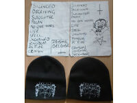 Hecate Enthroned merchandise, beanie hats & T-shirt discontinued Band Logo 2013
