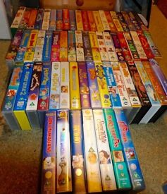 job lot 53 x antiques VHS Disney video tapes and others in excellent condition for collectors/kids
