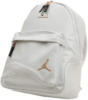 Nike Air Jordan Regal Faux Leather Backpack White Rose Gold 9A0136-001 NWT