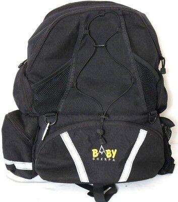 Baby Sherpa 5525776 Black Nylon Oversized Insulated Backpack Diaper Bag  (Baby Sherpa Diaper Backpack)