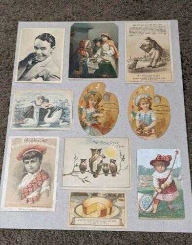 LOT OF ( 40 )  VICTORIAN TRADE CARDS- NICE SELECTION - READ DESCRPTION. LOT # 3