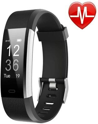 Lintelek Fitness Tracker with Heart Rate Monitor, Activity Tracker with Connecte