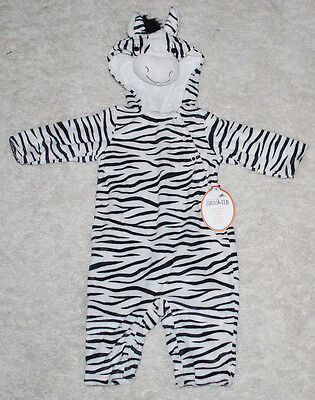 Halloween Zebra Costume (Pottery Barn Kids Baby Zebra Halloween Costume 0-6 Months 1PC Outfit Black)