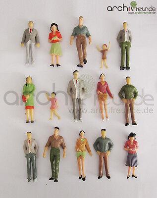 15 x Modell Figuren und Kinder, Handbemalt, für Modellbau 1:25 und LGB Spur G