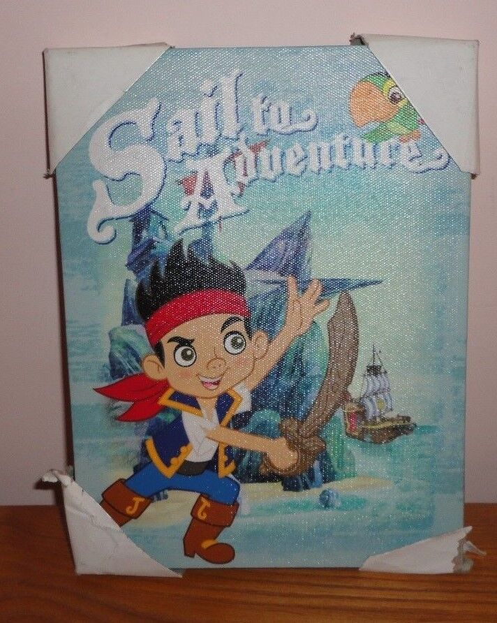 New Disney Jake The Neverland Pirates Adventure Canvas Wall Art 6.5 X 8.5  - $8.45