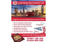 Trinity's B1 and Life in the UK preparation in Dewsbury By Learnwise Esol Centre
