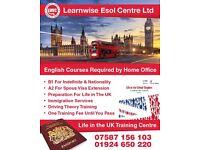 Life in the UK and B1 Preparation classes in DewsBury, Huddersfield, Batley, wakefield