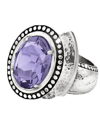 NWT Brighton Your True Color GRATEFUL Purple Tanzanite Ring Size 9 MSRP $58