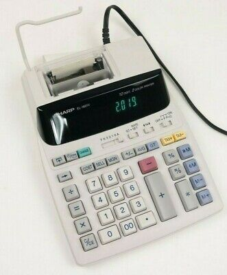 Sharp EL-1801V Portable 12-Digit 2-Color Compact Printing Accounting Calculator