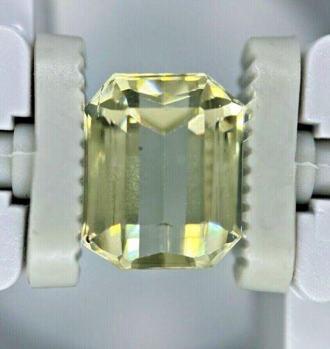 GIA Certified NATURAL NO HEAT Yellow Golden Beryl Octagonal 4.01 CT
